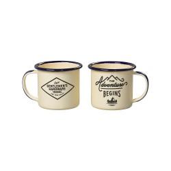 Emaljmugg Espresso Cream